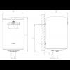 Ferroli E-Glass 80V, Электрический накопительный водонагреватель Ферроли