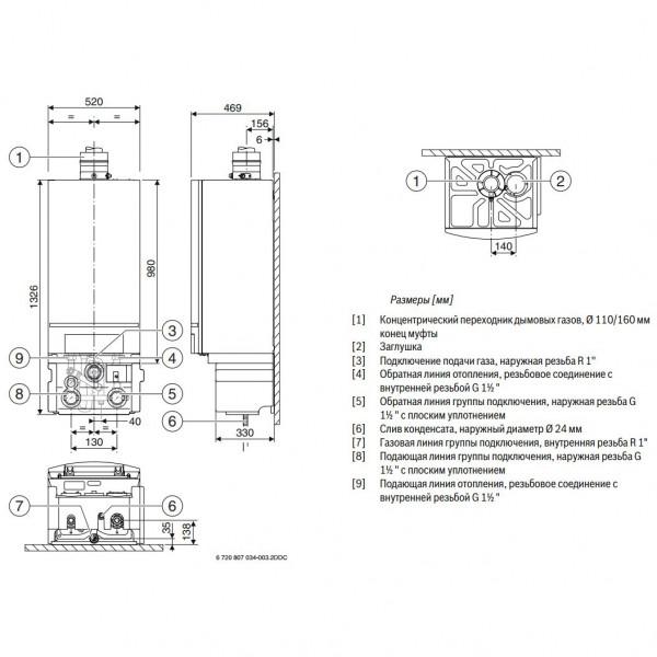 Buderus Logamax plus GB162-70 V2, Настенный конденсационный котёл Будерус