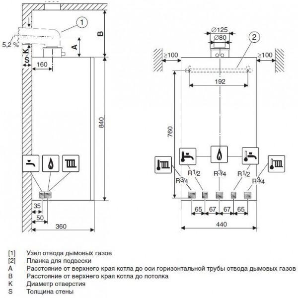 Buderus Logamax plus GB172-42 iW H, Настенный конденсационный котёл Будерус