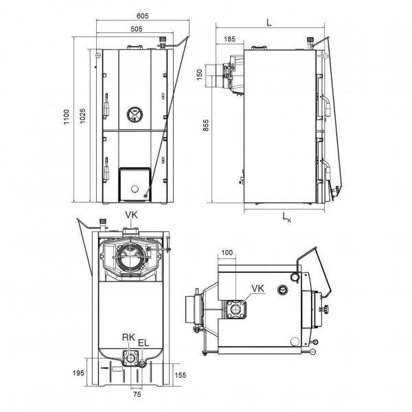 Buderus Logano G221-25, Твёрдотопливный котёл длительного горения Будерус