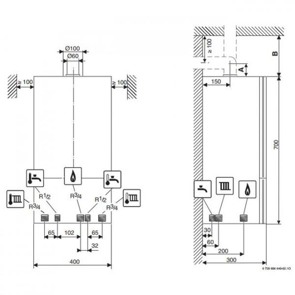 Buderus Logamax U072-12K, Газовый настенный котел Будерус