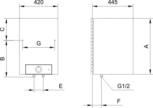 Gorenje OTG 50 SL SIM B6, Дизайнерский электрический водонагреватель Горенье