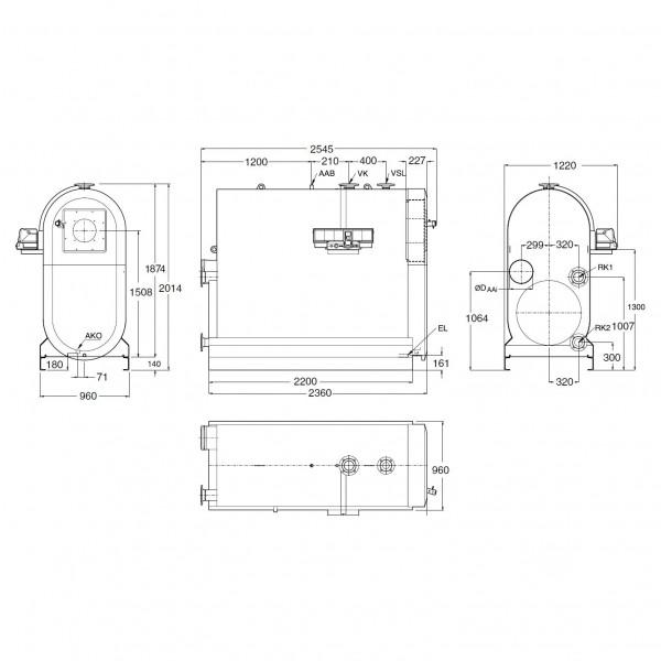 Buderus Logano plus SB745-800, Напольный конденсационный котёл Будерус на газе/диз. топливе