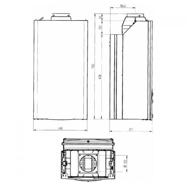 Baxi ECO-3 Compact 240 i, Газовый настенный котёл Бакси