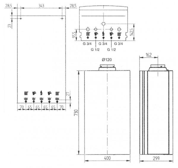 Baxi ECO-4s 24, Газовый настенный котёл Бакси