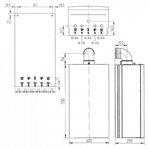 Baxi ECO-4s 1.24 F, Газовый настенный котёл Бакси