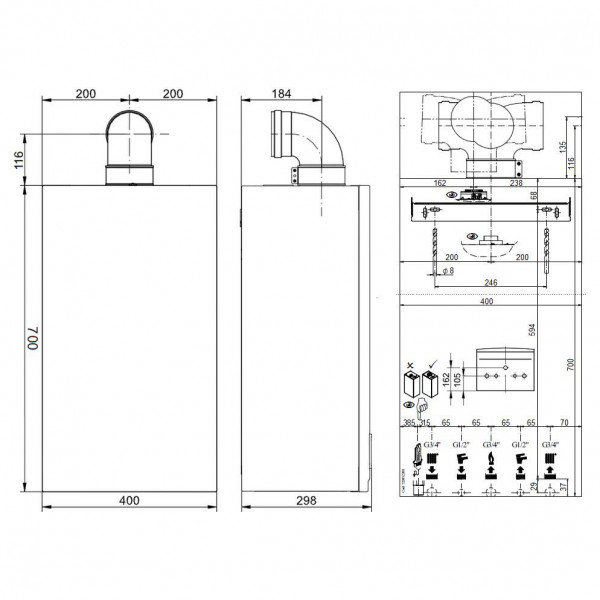 Baxi ECO-5 Compact 18F, Газовый настенный котёл Бакси