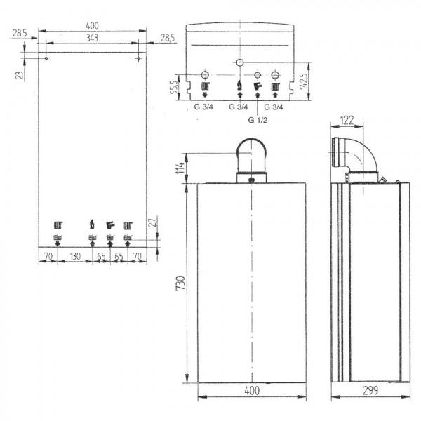 Baxi ECO Four 1.24F, Газовый настенный котёл Бакси