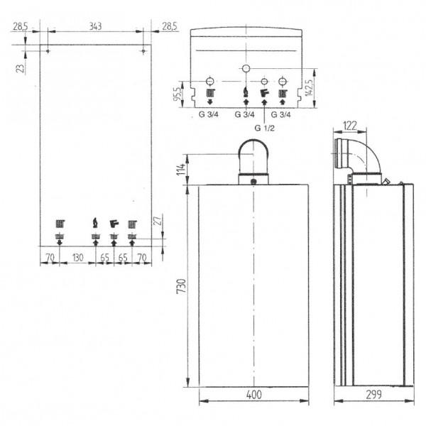 Baxi Fourtech 1.14F, Газовый настенный котёл Бакси