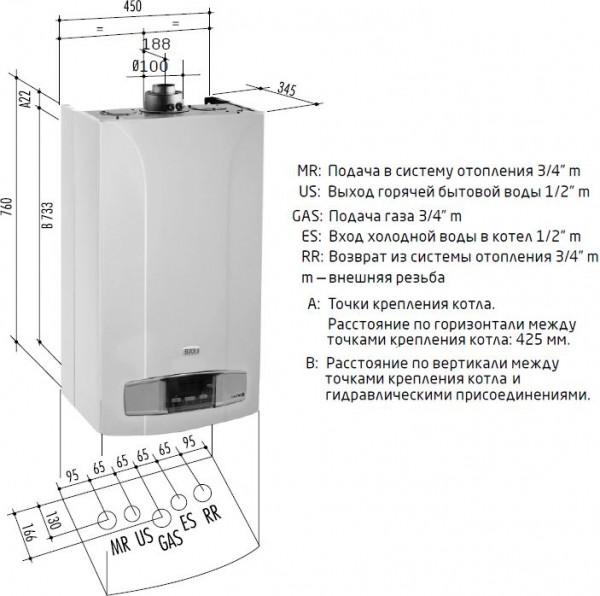 Baxi LUNA-3 240 Fi, Газовый настенный котёл Бакси
