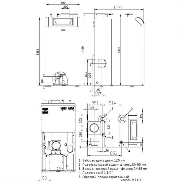 Baxi POWER HT 1.230, Напольный газовый конденсационный котёл Бакси