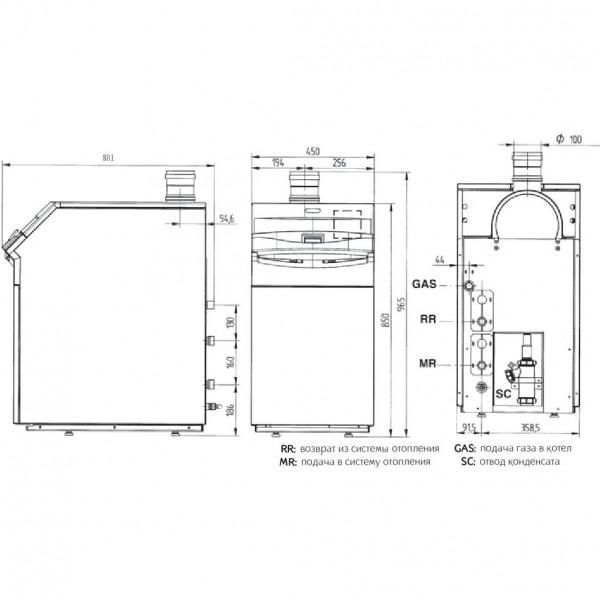 Baxi POWER HT 1.850, Напольный газовый конденсационный котёл Бакси