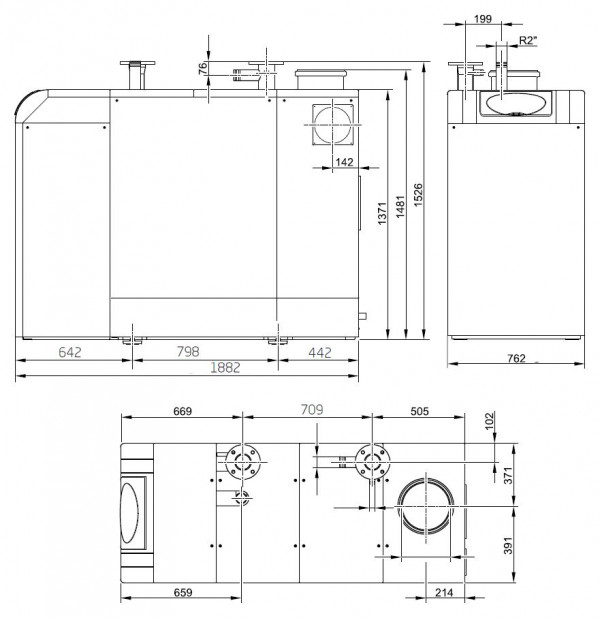 Baxi POWER HT-A 1.430, Напольный газовый конденсационный котёл Бакси