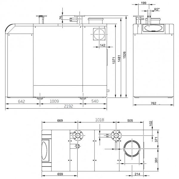 Baxi POWER HT-A 1.500, Напольный газовый конденсационный котёл Бакси