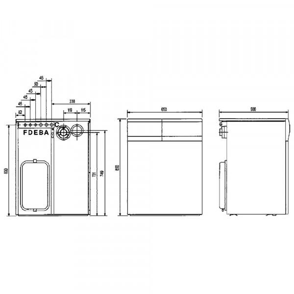 Baxi SLIM 2.300Fi 5E, Напольный газовый чугунный котёл Бакси