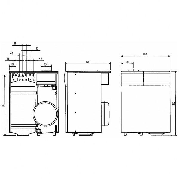 Baxi SLIM 2.230i 4E, Напольный газовый чугунный котёл Бакси