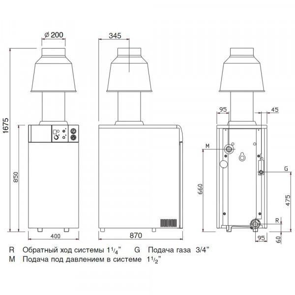 Baxi SLIM EF 1.61, Напольный газовый чугунный котёл Бакси