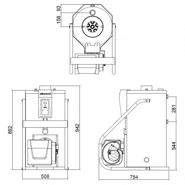 Kiturami KSO HI FIN 50, Дизельный  напольный котёл Китурами