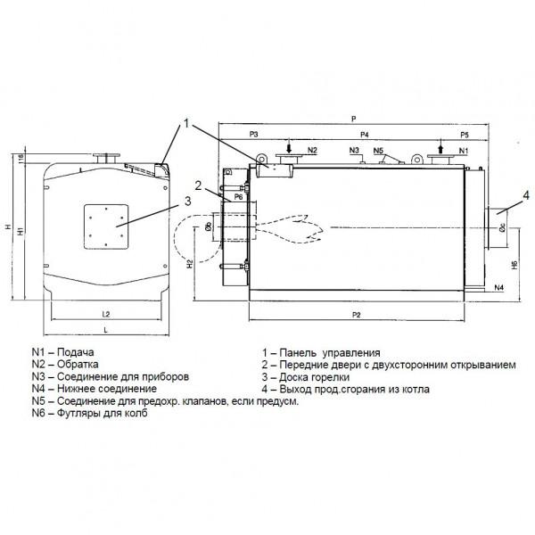 Protherm Бизон NO 1600, Промышленный стальной котёл Протерм