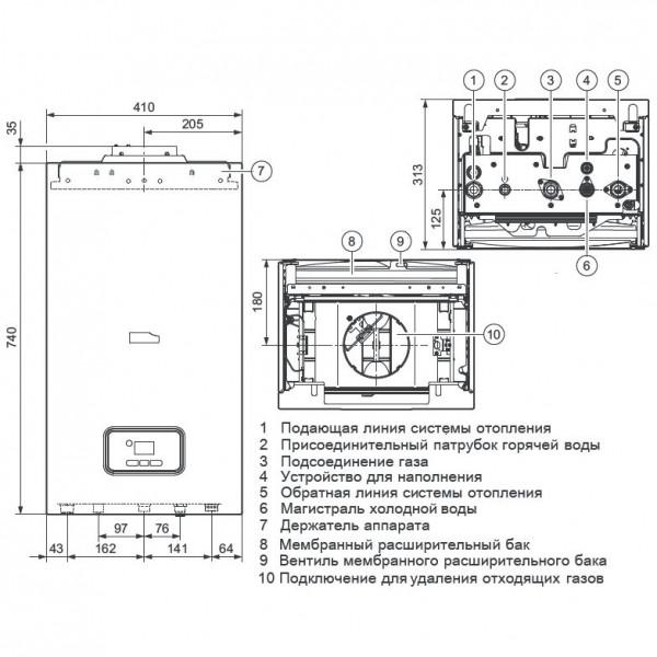 Protherm Гепард 12 MOV, Настенный газовый котёл Протерм