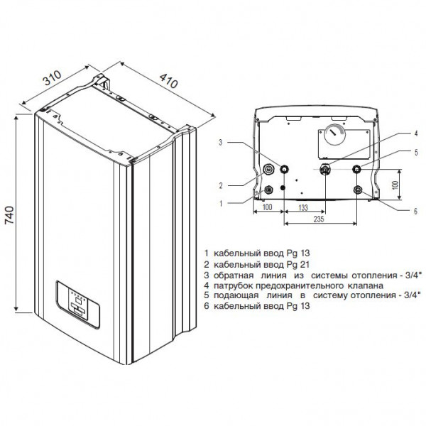 Protherm Скат 6 КR 13, Настенный электрический котёл Протерм