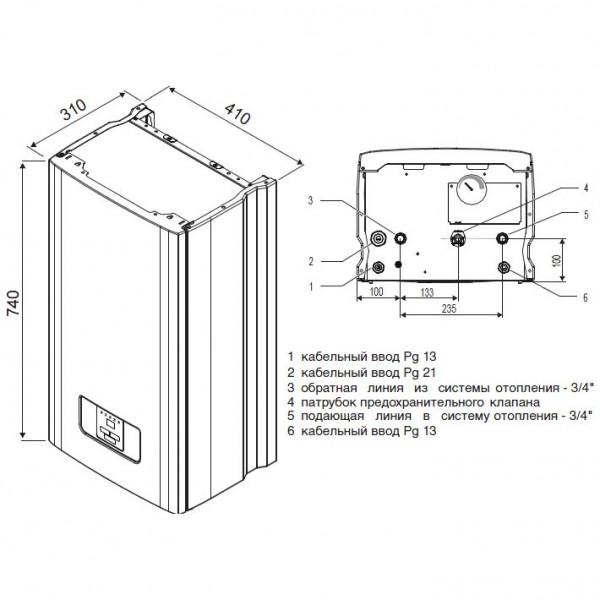 Protherm Скат 21 КR 13, Настенный электрический котёл Протерм