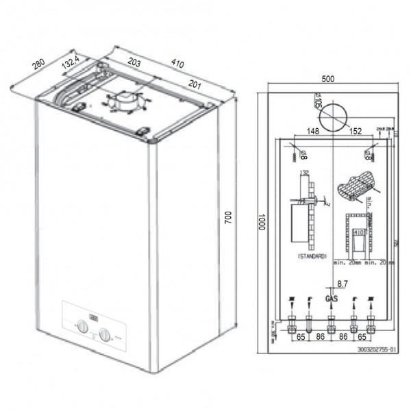 Protherm Ягуар 11 JTV, Настенный газовый котел Протерм