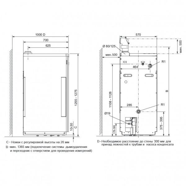 Vaillant ecoVIT/5 VKK INT 186/5, Напольный газовый конденсационный котёл Вайлант