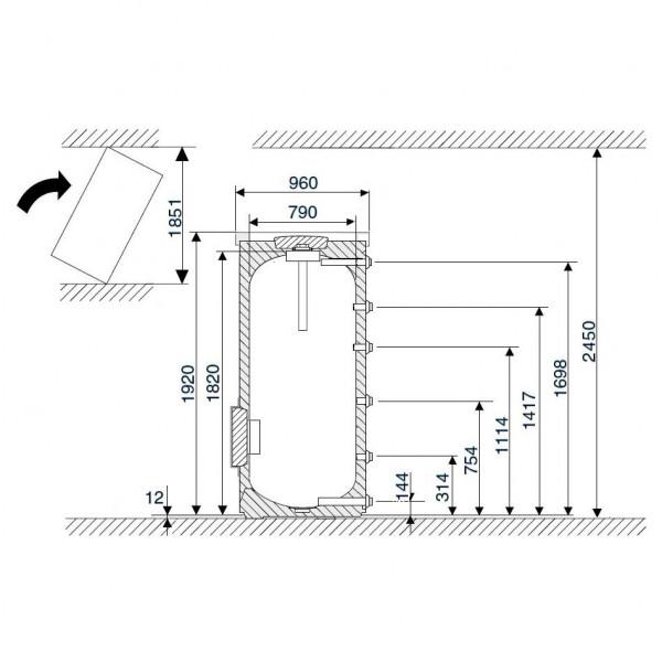 Buderus Logalux SF750.5-C, Бак-накопитель Будерус для нагрева воды через внешний теплообменник