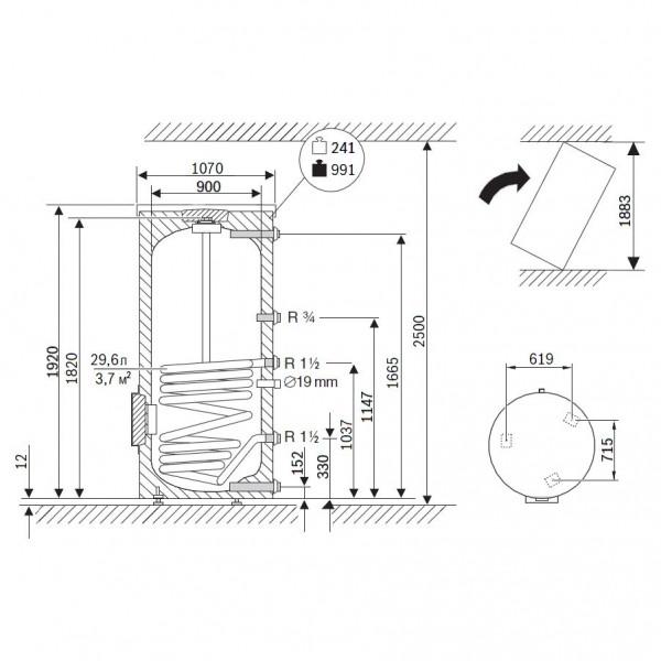 Buderus Logalux SU1000.5-W-C, Бак-водонагреватель Будерус
