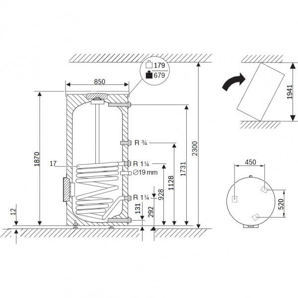 Buderus Logalux SU500.5 E S-B, Бак-водонагреватель Будерус