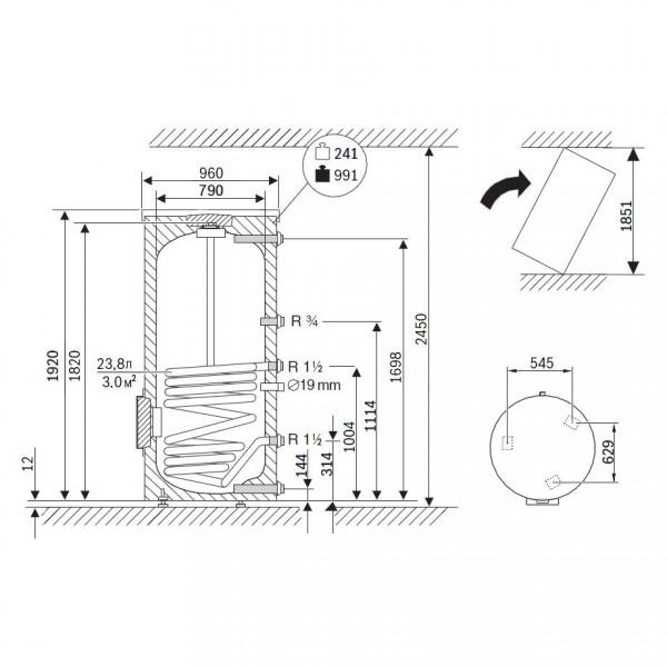 Buderus Logalux SU750.5-W-C, Бак-водонагреватель Будерус