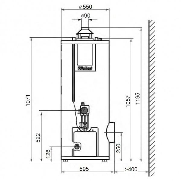 Vaillant atmoSTOR VGH 130/5 XZU, Газовый водонагреватель Вайлант