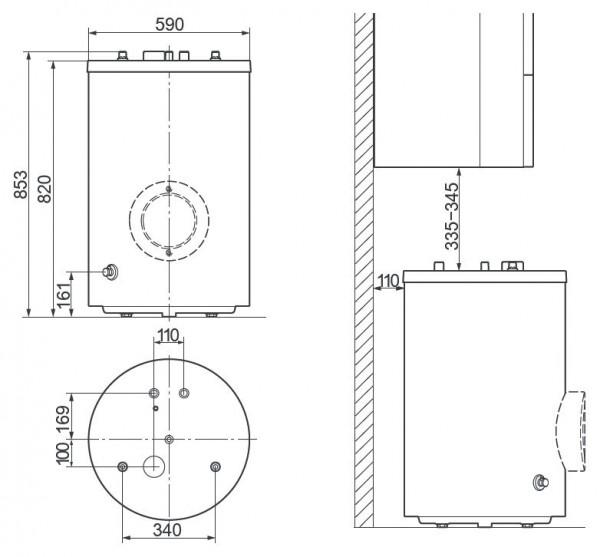 Vaillant uniSTOR VIH R 120/6 BR, Ёмкостный водонагреватель Вайлант