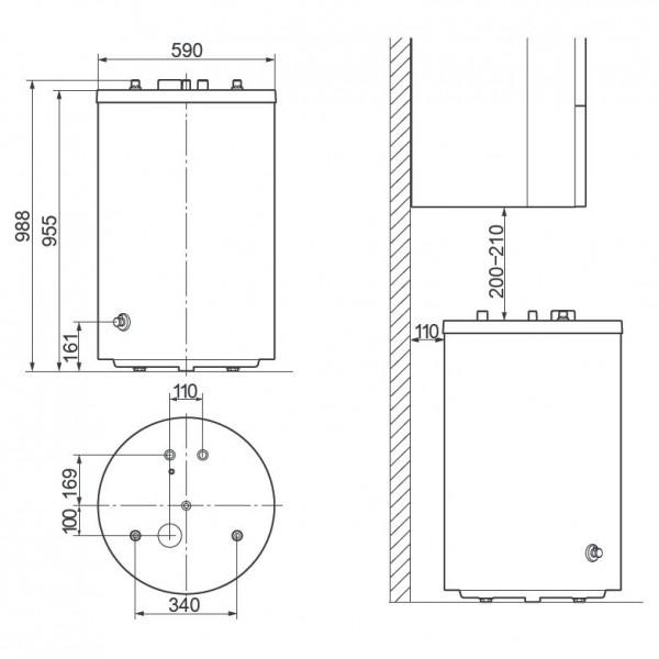 Vaillant uniSTOR VIH R 150/6 B, Ёмкостный водонагреватель Вайлант