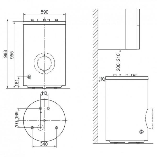 Vaillant uniSTOR VIH R 150/6 BR, Ёмкостный водонагреватель Вайлант