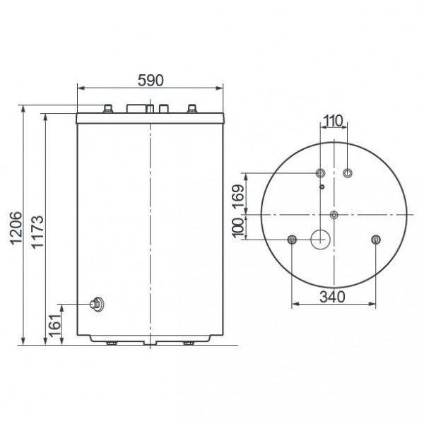 Vaillant uniSTOR VIH R 200/6 BR, Ёмкостный водонагреватель Вайлант