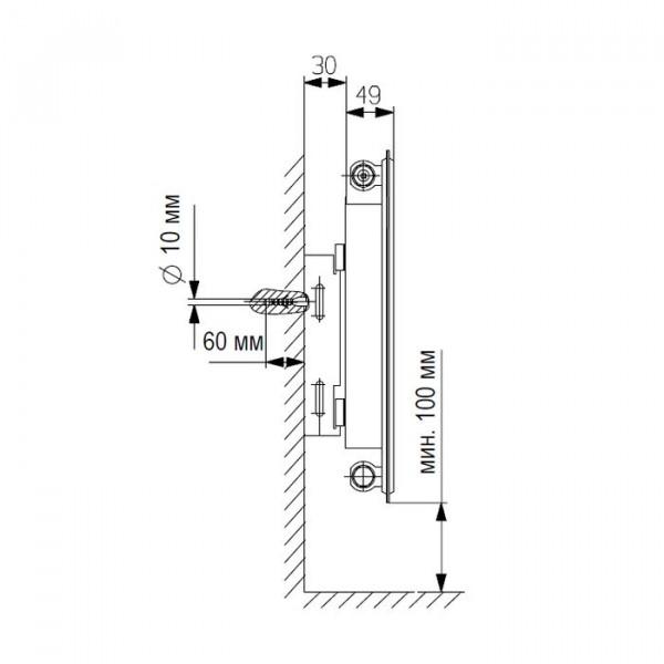 Vaillant K-11-600-3000, Стальной панельный радиатор Вайлант
