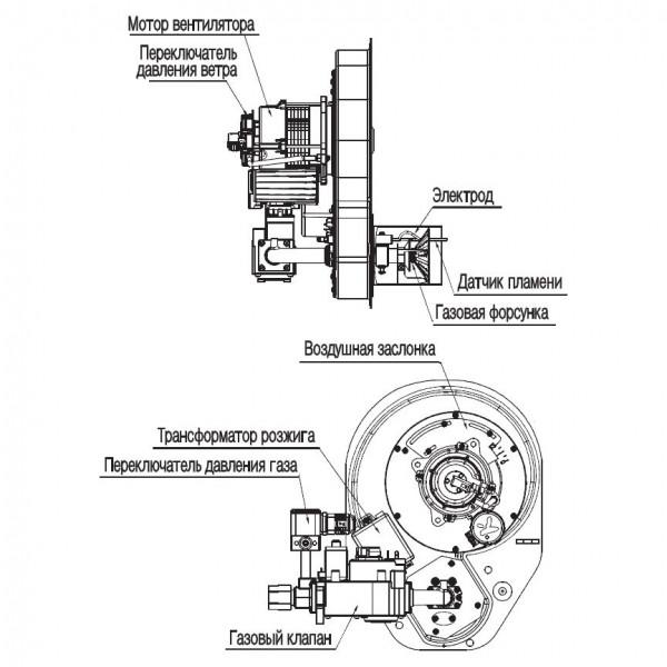 Navien GST-49K White, Газовый напольный котёл Навьен