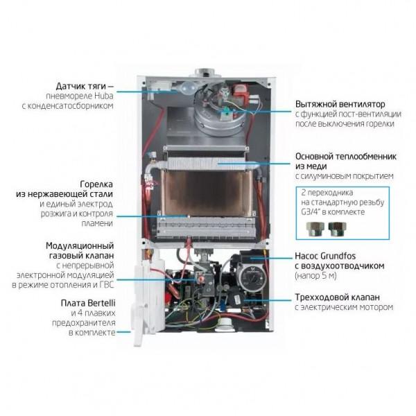 Baxi ECO-4s 10 F, Газовый настенный котёл Бакси