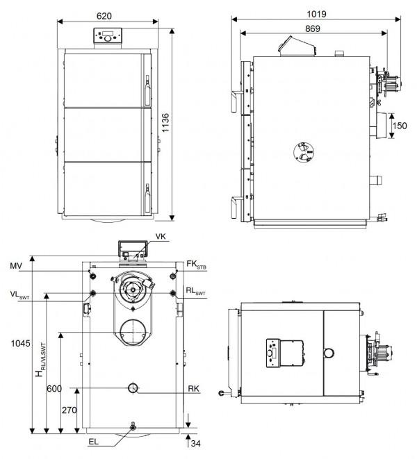 Buderus Logano S171-22 W, Cтальной пиролизный котёл Будерус