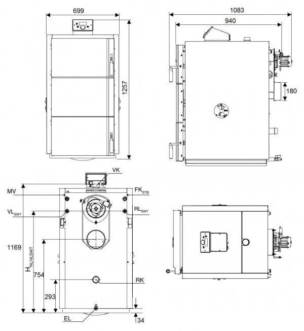 Buderus Logano S171-50 W, Cтальной пиролизный котёл Будерус