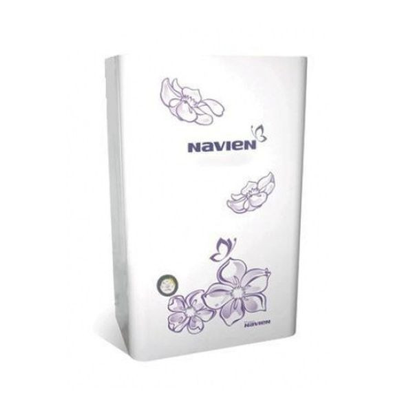 Navien Ace-13K Turbo White с цветком, Газовый настенный котёл Навиен