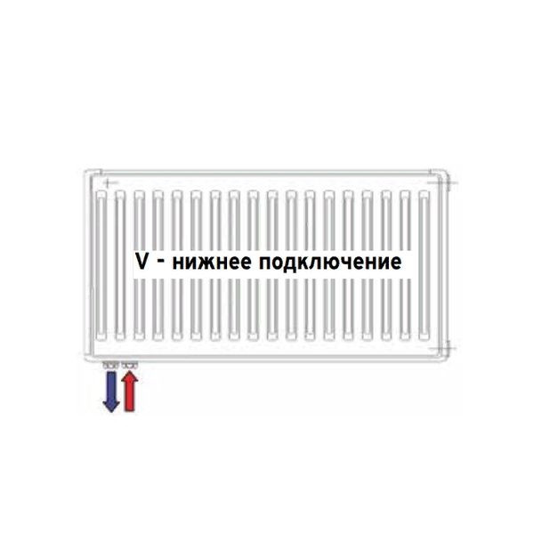 Vaillant V-11-600-1600, Стальной панельный радиатор Вайлант