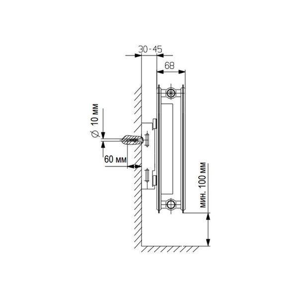 Vaillant K-21-600-1600, Стальной панельный радиатор Вайлант