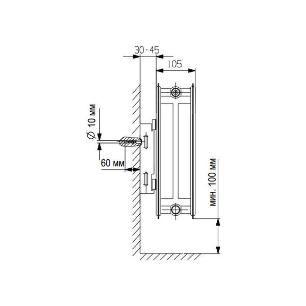 Vaillant K-22-300-3000, Стальной панельный радиатор Вайлант