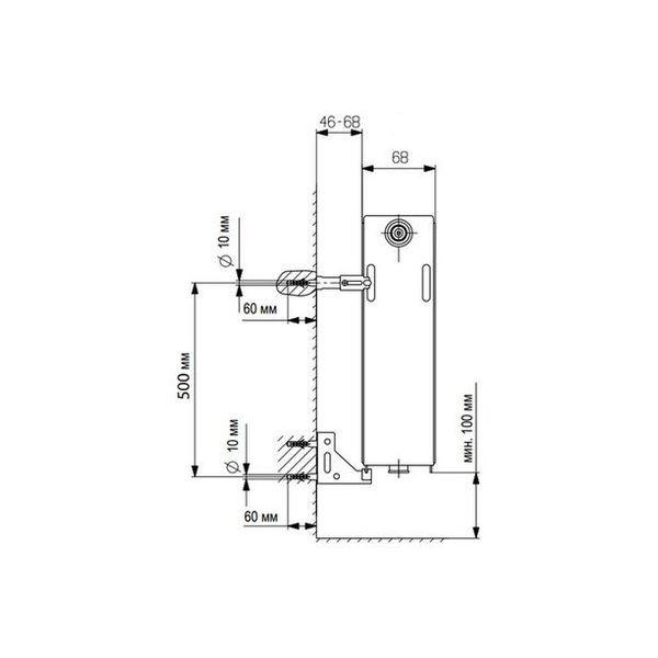 Vaillant V-21-600-1800, Стальной панельный радиатор Вайлант