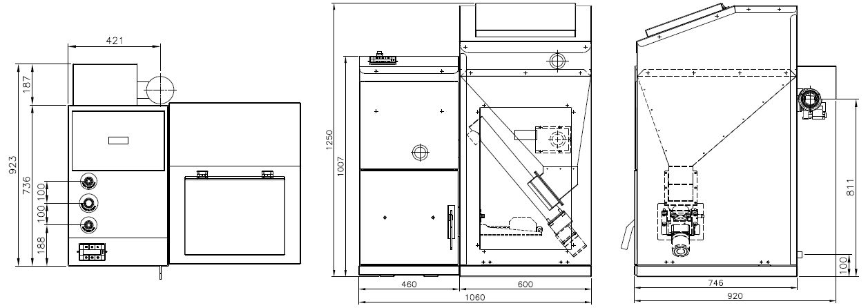 Размеры котла Kiturami KRР-20PA