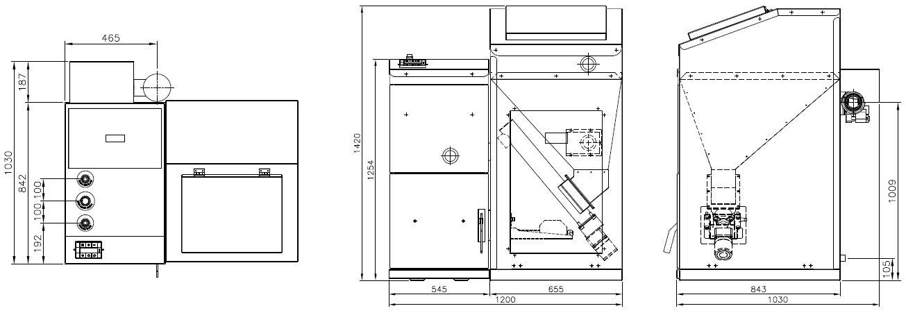 Размеры котла Kiturami KRР-50PA