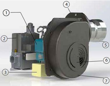 Устройство газовой горелки Kiturami TGB